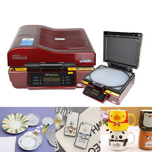 Red 3d Sublimation Vacuum Heat Press Transfer Machine For Phone Cases Mugs Diy