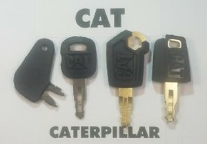4 Caterpillar Keys cat Heavy Equipment Ignition Dozer Excavator Skidsteer
