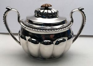 Covered Sugar Bowl With Lid Made In Russia Marked 84 For 84 Silver 12 70 Troy O