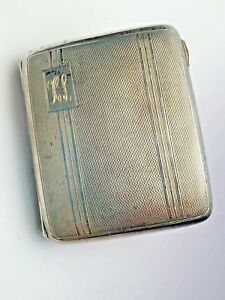 English Sterling Silver Cigarette Case With Gold Washed Interior