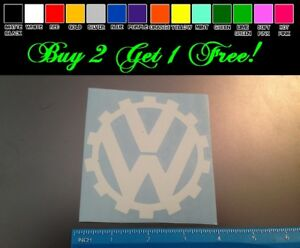 Vw Gear 4 White Vinyl Sticker Decal Car Truck Volkswagen Euro Beetle Bug Jetta