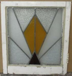 Old English Leaded Stained Glass Window Pretty Geometric Burst 20 X 22
