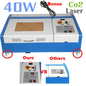 Upgraded 40w Co2 Laser Engraver Cutting Machine Usb Interface Crafts Cutter Diy