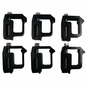 Ifjf Mounting Clamps For Truck Caps And Camper Shell Set Of 6 Black