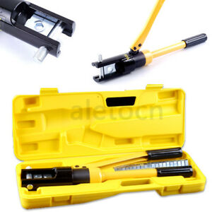 16 300mm 11 Die 16 Ton Quick Hydraulic Crimper Cable Plier Crimping Tool Kit