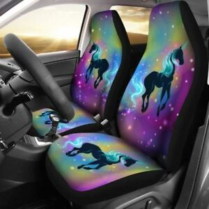 Unicorn Unique Rainbow Car Set Cover Beautiful Set Of 2