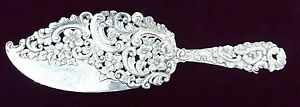 Shreve Crump Low Victorian Flat Server Dessert Or Fish Sterling Silver