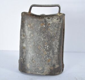 Antique Vintage Cowbell Primitive Early Hand Made Cow Bell W Clapper