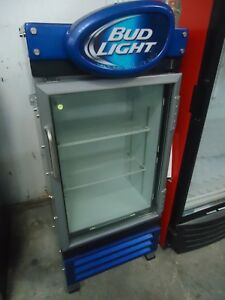 used Criotec Cvz 08 Bud Light Glass Door Refrigerator Cooler Merchandiser 120v