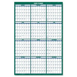 At a glance Vertical Erasable Wall Planner 32 X 48 2018