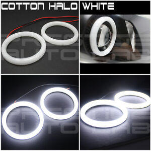 2x 80mm Cotton Led Angel Eye Halo White Light Ring Smd Lamp Drl white Xenon