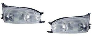 Headlights Pair Fits Toyota Camry 1992 1993 1994 Left Right With Brackets