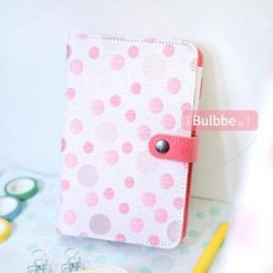 Notebook Polyester Cover Bubble Pattern Metal Binder Clip Organizer Pl