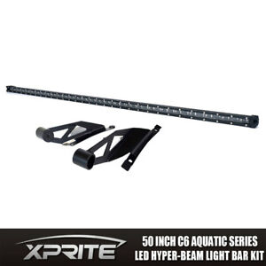 Xprite 50 Cree Single Row Led Light Bar C6 With Mounting Brackets Toyota Tundra