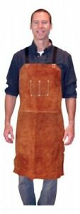 3836 Bib Apron Leather 24x36dark Brown By Tillman