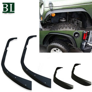 07 16 Jeep Wrangler Jk Unlimited Flat Textured Style Fender Flares