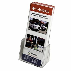 Clear ad Lhf s100 Acrylic Trifold Brochure Holder Pamphlet Display Stand