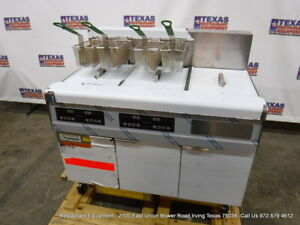 New Frymaster Fmre217sc Electric Digital Double Fryer With Filtration System