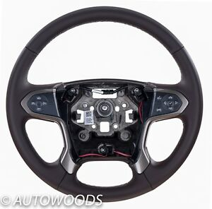 23423447 Chevy Silverado 2015 2016 2017 Leather Steering Wheel Cocoa New