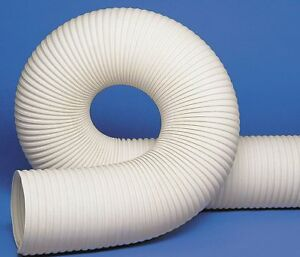 25 Ft Thermoplastic Rubber Industrial Ducting Hose With 8 Bend Radius White
