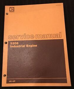 Cat Caterpillar 3208 Industrial Engine Service Shop Repair Manual 3z1 up