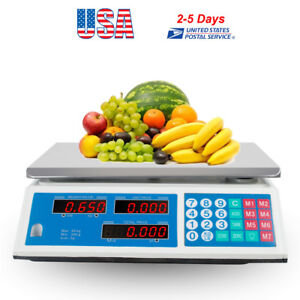 30kg Digital Price Computing Scale Food Produce Meat Deli Kitchen 66lb Us Stock
