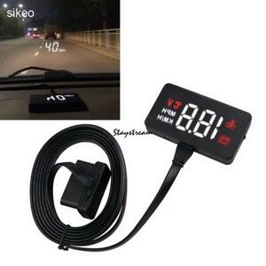 Car Head Up Display Obd2 Ii Hud Projector Speedometer Mph Km H Speed Warning