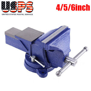 4 5 6 Mechanic Bench Vise Table Clamp Press Locking Swivel Workbench Us