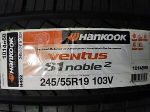 New 245 55r19 103v H452 Ventus S1 Noble2 Hankook All Season Dot 2015