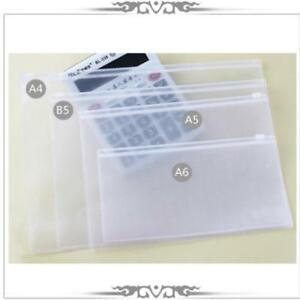 Document Bag File Folder Durable Waterproof Plastic Clear Supplies Storage Cases
