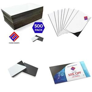 Self adhesive Business Card Magnets Flexible Peel Stick 2 X 3 5 Inches
