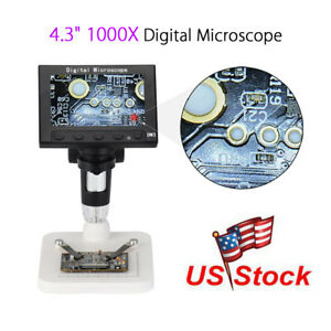 Professional Hd 1000x Zoom Digital Microscope Endoscope Magnifier With Stand