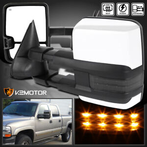 1999 2002 Silverado Sierra Facelift Power Heated Tow Mirrors W Smoke Led Signal