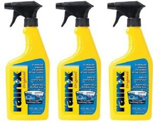Rain X Windshield Car Glass Water Repellent Spray Driving Visibility 3 Bottles