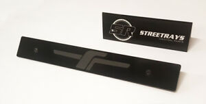 Streetrays Black Front License Plate Delete With Full Jdm F Laser Engraved
