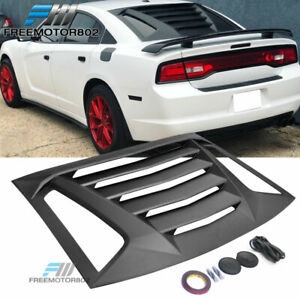 Fits 11 18 Dodge Charger Ikon V2 Style Rear Window Louvers Unpainted Abs