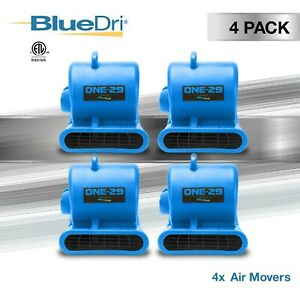 4 Pack Bluedri One 29 Air Mover Carpet Dryer Floor Fan Blower For Water Damage