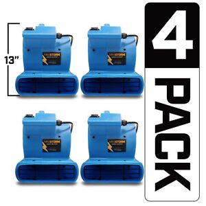 4 Pack Bluedri Mini Storm Mini Air Mover Carpet Dryer Floor Fan Blower Home Use