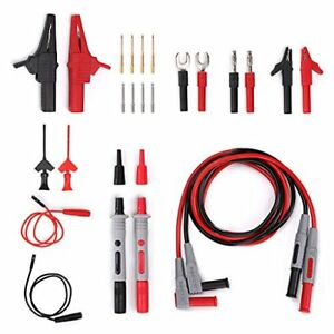 Sumnacon Multi Test Leads Kit 24 in 1 Electrical Multimeter Test Lead With Alli