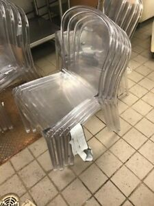 used 12 Piece Clear Cafe Style Sitting Chairs local Pickup Only