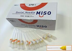 Dental Needles Disposable 27g Long Miso 1000 Needles 10 Boxes