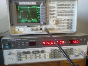 Hp 8656b Synthesized Rf Signal Generator Tested 100khz 990 Mhz 13dbm To 127