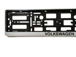 Silver Volkswagen Vw European Euro License Number Plate Holder Frame German Car