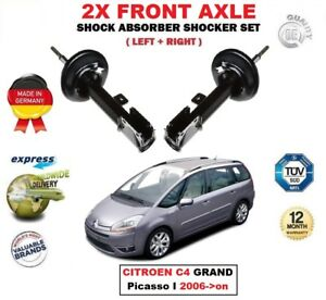 For Citroen C4 Grand Picasso I 2006 on 2x Front Left Right Shock Absorbers Set