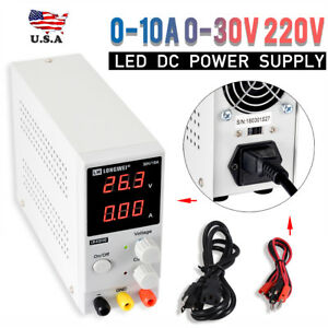 Digital Dc Power Supply Variable Adjustable Lab Bench Test Equipment Tool 0 30v