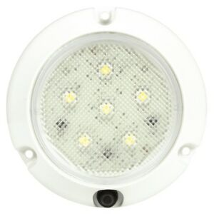 Truck lite 44438c Super 44 Led 6 Diode Round Clear Dome Light White Flang