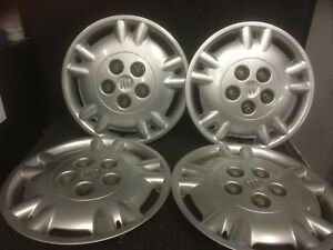 Set Of 4 Buick Regal Hubcaps Wheel Covers 1997 15 Factory W Lug Covers 1144