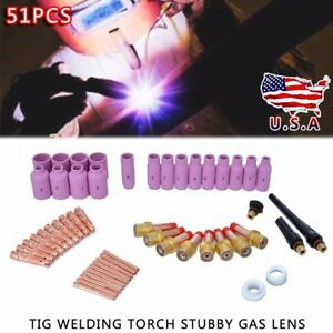 51x Tig Gas Lens Collet Body Consumables Kit Fit Wp 17 18 26 Tig Welding Torch
