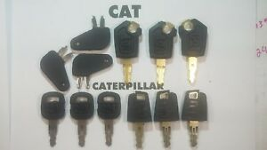 12 Master Cat Keys Caterpillar Equipment Ignition Key Cat 5p8500 Excavator Dozer