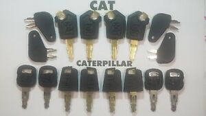 16 Master Cat Keys Caterpillar Equipment Ignition Key Cat 5p8500 Excavator Paver